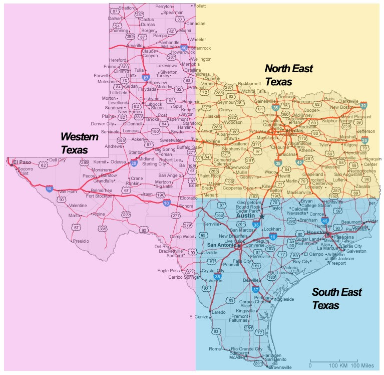 MegaSceneryEarth MegaSceneryEarth Texas - Map of southern texas